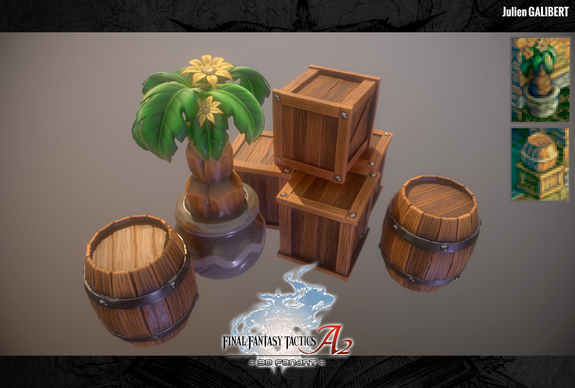 Final Fantasy Tactics Advance 2 3D Fanart screen